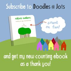 Free counting ebook when you subscribe to email updates from Doodles and Jots!
