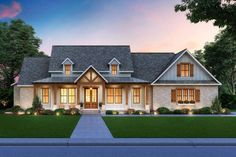 Design Ios, Design Studio, Modern Farmhouse Plans, Farmhouse Design, Craftsman Farmhouse, Country Farmhouse, Modern Craftsman, Farmhouse Style Homes, Craftsman Interior