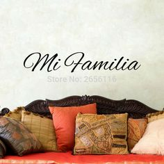 Mi Familia Spanish Vinyl Decals My Family Art Mural Stickers for Home Decor