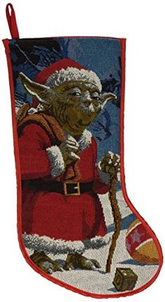 Kurt Adler Star Wars Classic Yoda Tapestry Stocking 19Inch * Details can be found by clicking on the image. (This is an affiliate link)