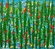 Onofre Frías Venezuelan contemporary painter.  tropical Color.