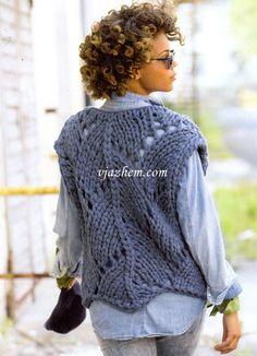 Crochet Needles, Knit Crochet, Knit Vest Pattern, Knitted Blankets, Knit Cardigan, Lana, Knitwear, Knitting, Knits