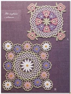 Two Doilies (Crochet and arts)