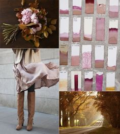 sienna, blush and hot pink