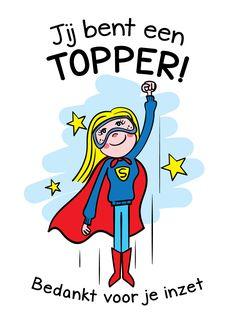 Bedankt cadeau TOPPER 🙏 voor zorginstellingen, scholen en bedrijven Blond Amsterdam, Teamwork, Cool Kids, Compliments, School, Funny, Happy, Quotes, Fictional Characters