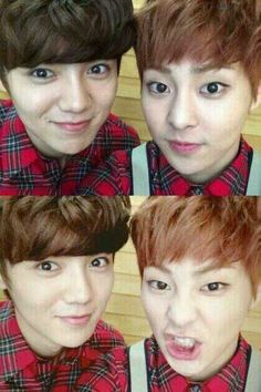 The oldest members of Exo Luhan & Xiumin, also the cutest :3
