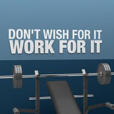 Don't wish for it, Work for it – 3D Gym Decor Home Gym Decor, Office Decor, Indoor Gym, Gallery Wall Frames, Decorative Tile, At Home Workouts, Wall Art Decor, Wall Decals, Wish