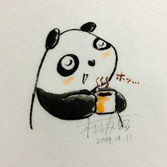 2014.4.11 【一日一大熊猫】 抽出物のコーヒーやお茶とは違って ココアは粉にしたカカオ豆をそのまま飲むから 豆の栄養素が無駄なく採れるらしいよ。 #ココア