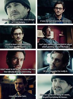 """(gif set) """"Your lure is the one thing he wants, despite everything he knows."""" 