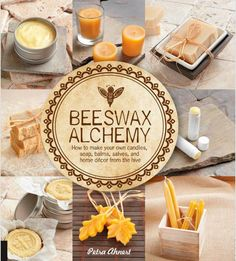 The book, Beeswax Alchemy: How to Make Your Own Soap, Candles, Balms, Creams, and Salves from the Hive, by Petra Ahnert provides a multitude of exciting uses for beeswax including beauty and skin care recipes, homemade soaps and candles and even scented beeswax ornaments that are simply perfect as DIY Christmas gift ideas! Click through to learn more.