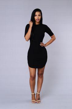 Campbell Dress - Black   Fashion Nova