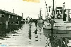 arkiv.dk | Oversvømmelse på Lemvig Havn