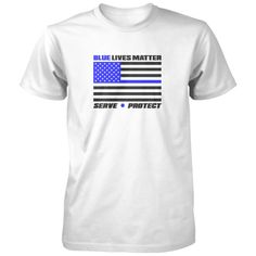Blue Lives Matter Flag Shirt - Our men and women in blue matter too! All of our incredibly soft unisex adult shirts are made of 100% combed cotton. The sport grey t-shirt is made of 90% combed cotton and 10% polyester. Every t-shirt is custom made within 2-3 business days of completed payment.