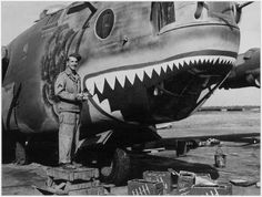 "B-24 ""THE SHARK "" Transferred October 1943 to the 44th BG, 67th BS."