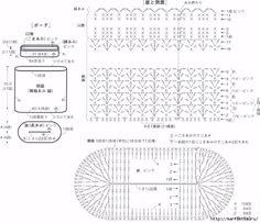 Крючком. Сумочка-косметичка с большим бантом (9) (663x573, 234Kb)