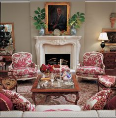 Eye For Design: Decorating With Red Toile-Charles Faudree