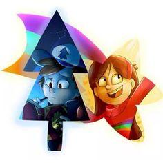 ŌkamiandFenrix: El persistente pino y la alegre estrella fugaz, yo no hago estos dibujos, arte si me preguntan pero quisiera ponerlos porque tienen un gran significado para nosotros los que quisiéramos haber nacido en Gravity Falls. ------------------------------------------------- ŌkamiandFenrix: The persistent pine and cheerful shooting star, I do not do these drawings, art if you ask me but I would like them because they have great meaning for us that we would have been born in Gravity…