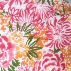 Indian patterns - bright pink and orange - block print floral - Quilted Cotton Eiderdown - Double Bedspread - Kasakosa Home Decor