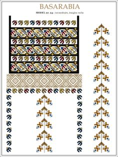 Semne Cusute: iie din BASARABIA - model (24) Embroidery Sampler, Folk Embroidery, Embroidery Patterns, Cross Stitch Patterns, Machine Embroidery, Knitting Patterns, Palestinian Embroidery, Antique Quilts, Garter Stitch
