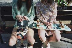 Yes, Girls Can Skateboard Sublime Creature, Blue Neighbourhood, Skate Girl, Skate Style, Comme Des Garcons, Girl Gang, Skateboards, Ladies Dress Design, Look Cool