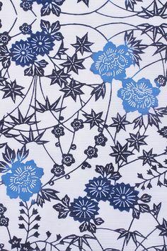 重要無形文化財の伊勢型紙使用ー「菊花」柄・古典クラシック