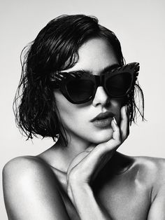 House of Holland AW eyewear campaign photographed by Damon Baker featuring model, Eliza Cummings