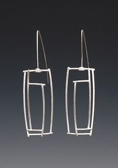 32.  #Rectangular  Earrings - 39  #Pairs  of Silver  #Earrings  You Can Wear with…