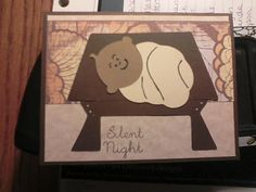 Silent Night Card I made for the My Pink Stamper 12 Days of Christmas Challenges by Miranda Matteson