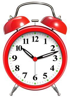Alarm Clock Red PNG Clip Art