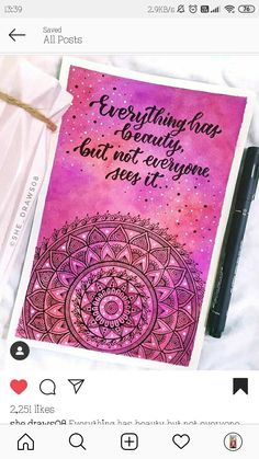 Mandala Book, Mandala Art Lesson, Mandala Artwork, Easy Mandala Drawing, Doodle Art Drawing, Art Drawings Beautiful, Art Drawings Sketches Simple, Watercolor Mandala, Hand Lettering Art