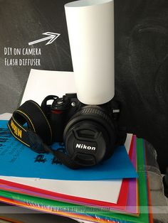 Cheap DIY on-camera diffuser. CHEAP {or free if you have the stuff already}. Alisha Galbraith Photography <3