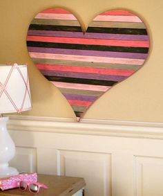 Take a look at this Heart Pallet Wall Art by Slippin Southern on #zulily today!