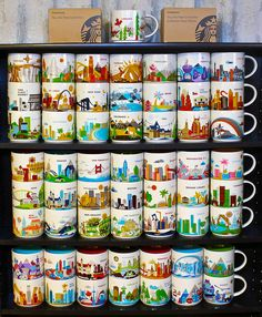 """Starbucks """"You Are Here"""" Series Mugs  - fun travel gifts for family & friends."""