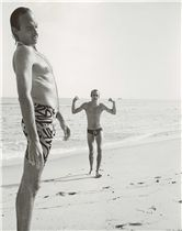 Jon Gould and Keith Haring on Beach