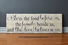Great for a dining room! #DurhamCustomWoodDecor #homedecor #interiordesign #quote