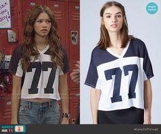 KC's 77 top on KC Undercover.  Outfit Details: http://wornontv.net/49433/ #KCUndercover