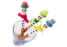 Muñeco de nieve crujiente en Elementos y objetos relacionados con las meriendas y los tés
