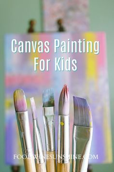 Painting on canvas is an excellent way to allow your children to be creative and have fun. Canvas painting for kids is a frugal and easy activity for Easy Canvas Painting, Painting For Kids, Fun Crafts For Kids, Easy Diy Crafts, Clown Faces, Kids Canvas, Indoor Activities For Kids, Diy Projects For Kids, Summer Memories