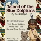 About this Product  This product was designed to accompany the novel, Island of the Blue Dolphins by Scott O'Dell. It consists of three parts...  T...