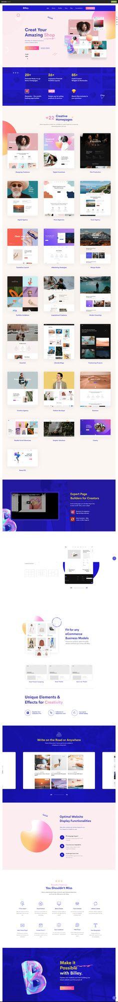 Billey - Creative Portfolio & Agency WordPress Theme on Behance