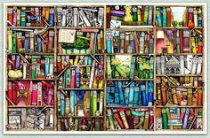 bookshelf - wish mine looked so colourful