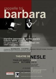 Rappelle toi Barbara fait revivre le mythe au Théâtre de Nesle