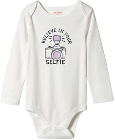 12335e5465 Joe Fresh Baby Girls  Pattern Long Sleeve Bodysuit