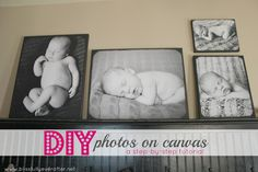 Blissfully Ever After: How to DIY Photos on Canvas