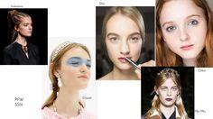 Quel che resta della PFW SS16 in bellezza. Le treccine tribali di Valentino, la mascherina azzurro cielo di Chanel, il look rosa romantica di Dior, le labbra goth-grunge di MiuMiu e il ritorno della rima nera da Chloé.