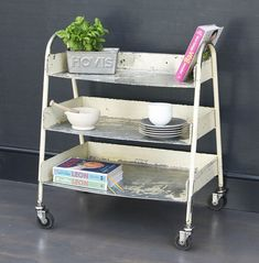Vintage Industrial Storage Trolley - Bring It On Home