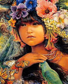 """Princess of the Amazona (zoom 2)"" par Josephine Wall"