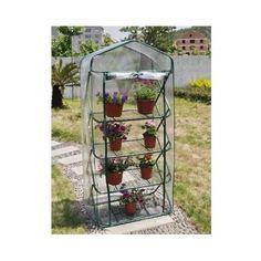 4 Tier Pop-up Greenhouse Green House Garden Patio Balcony Conservatory Outdoor #4TierPopupGreenhouse