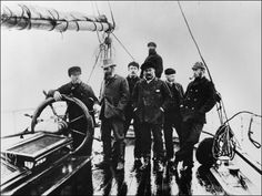 Young Arthur Conan Doyle aboard the Eira, which the Hope had encountered in Arctic waters (July 1880).