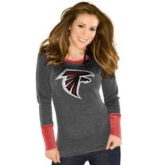 Touch by Alyssa Milano Atlanta Falcons  Ladies Touch Quick Pass Long Sleeve Thermal T-Shirt - Black